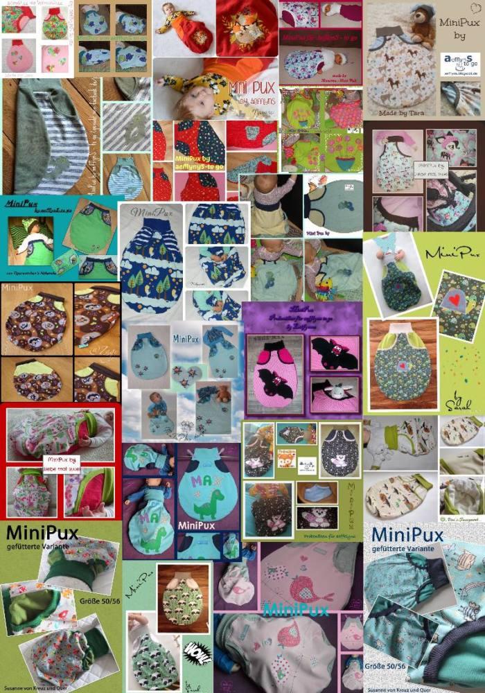 Strampelsack naehen MiniPux Collage 2