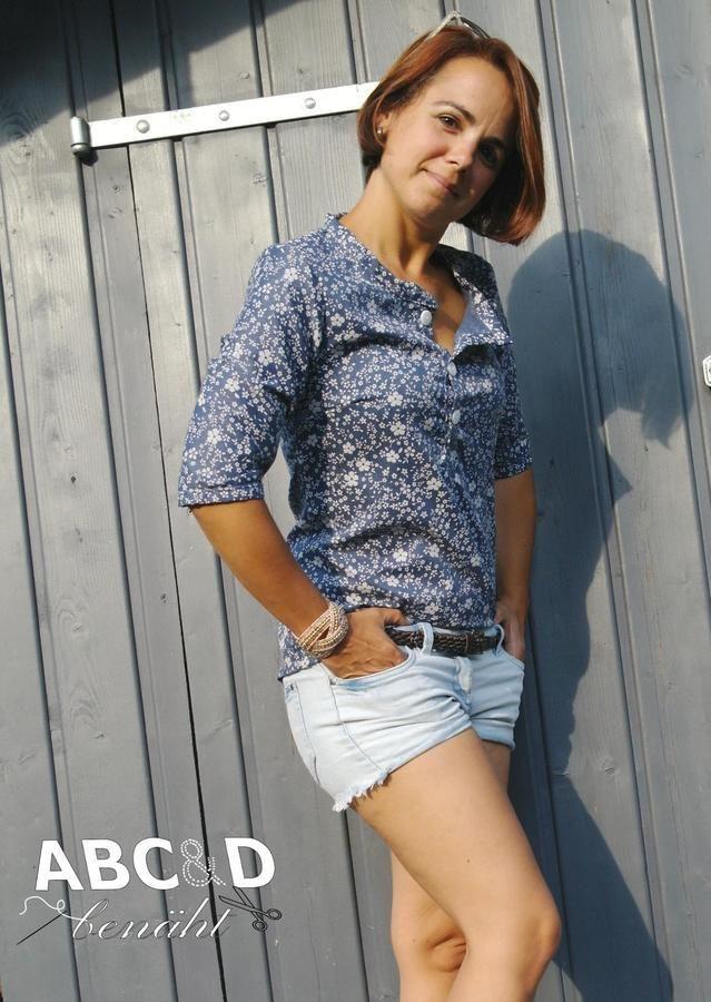 Damen Bluse LANEA naehen Sara Julez 2