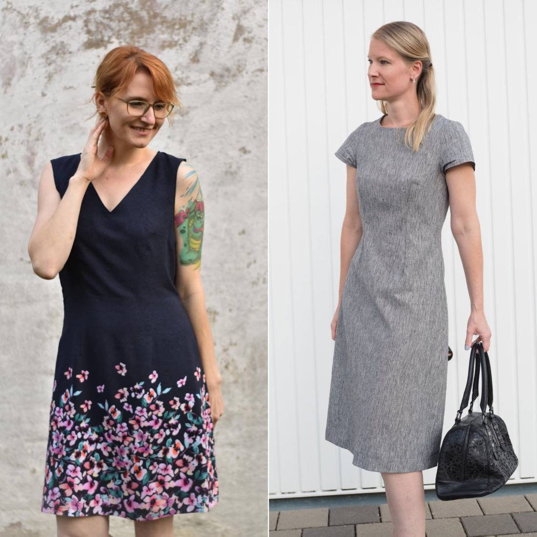 etuikleid selber nähen - kleid klasik aus webware