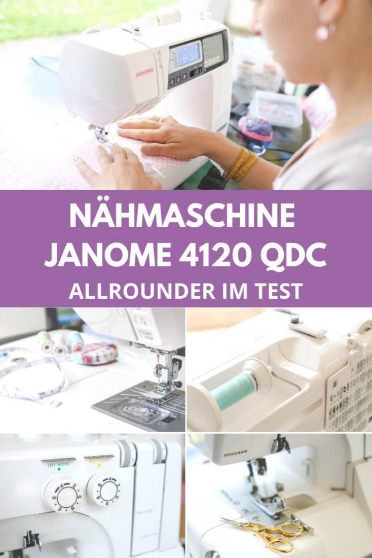 Janome 4120 QDC Test Naehmaschine