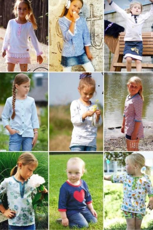 Kinder Bluse MINI LANEA Cover Sara Julez