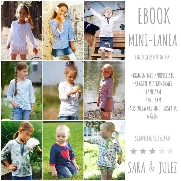 Kinder Bluse MINI LANEA naehen Sara Julez 7