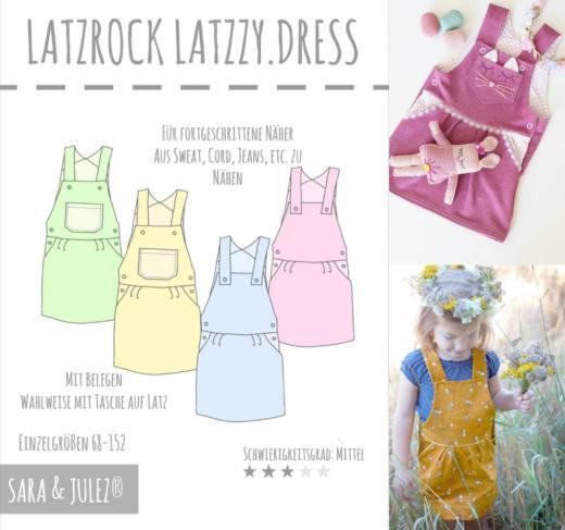 Latz Rock LATZZY DRESS naehen Sara Julez 6