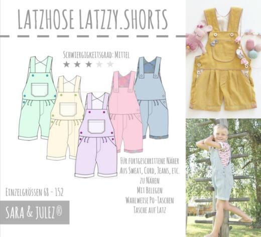 Latzhose LATZZY SHORTS naehen Sara Julez 7