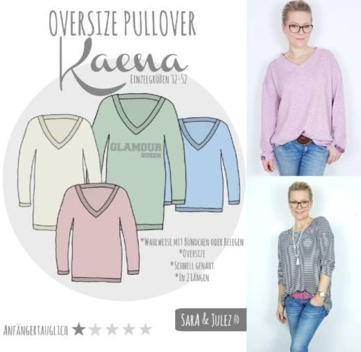 Oversiez Pullover KAENA naehen Sara Julez 1