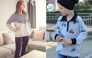 Sweater mit Kragen und Reißverschluss: Schnittmuster BUKA