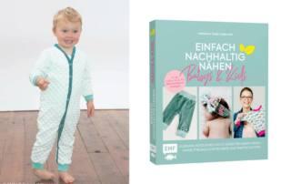 """Kostenloses Schnittmuster aus dem Buch """"Einfach Nachhaltig Nähen - Babys & Kids"""": Baby Schlafanzug Freebook SUKA"""