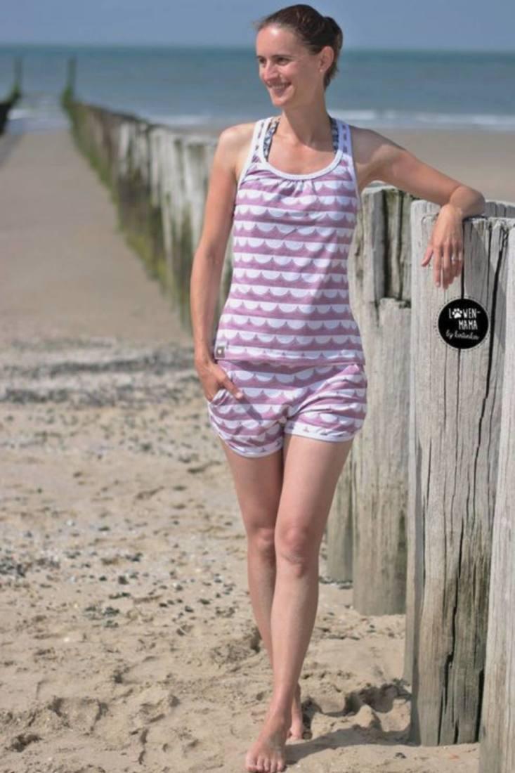 damen shorts naehen shorty legs 1