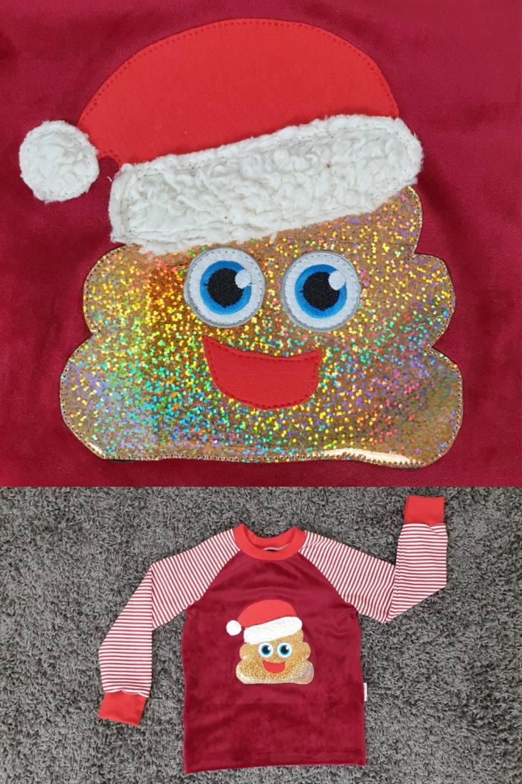 Cover Weihnachtskackhaufen Applikationsvorlage
