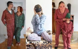 Klassischen Pyjama nähen: Schlafanzug für die ganze Familie