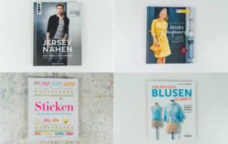 Nähbücher Rezensionen: Nähen für Männer, Nähen mit Jacquard, Blusen nähen und Sticken lernen
