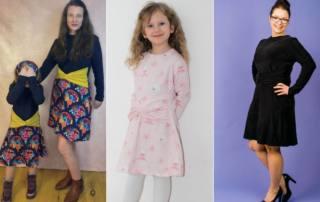 Kleid mit Knotendetail nähen - Schnittmuster Kleid SIMPUL