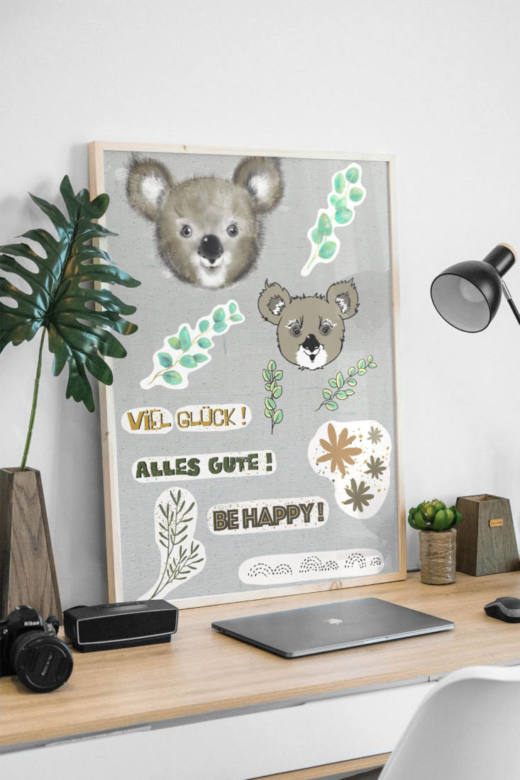 plotter und printable set koala mockup FINAL