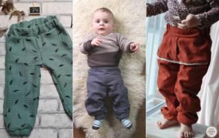 Baby Hose nähen aus Webware - Schnittmuster SERU