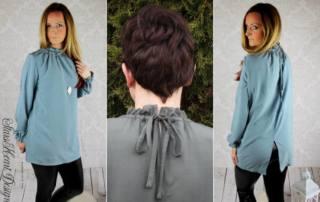 Blusenshirt mit Stehkragen nähen - Schnittmuster Bluse KERAH
