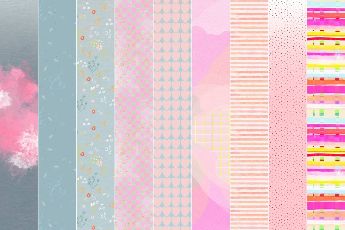 digitale papiere hase rosalie