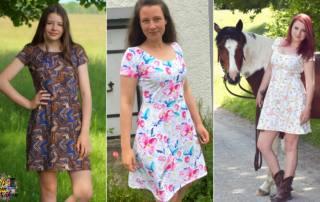 Jersey Kleid nähen - Schnittmuster Kleid ELOK