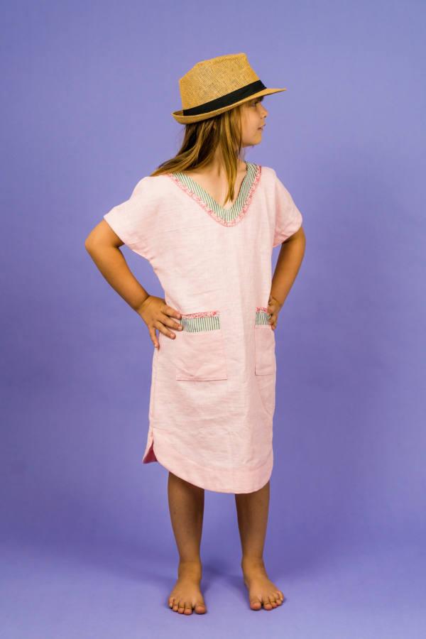 210714 Kuraermeliger Hoodie naehen PINTAR Kleid naehen SINAR 008