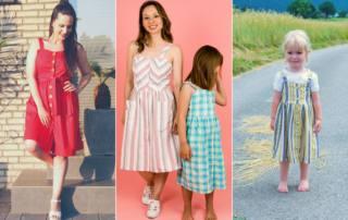 Leinen Kleid nähen - Schnittmuster Kleid GARIS für Damen und Kids