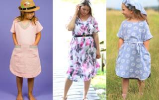 Einfaches A-Linie Kleid oder Tunika nähen - Schnittmuster Kleid SINAR für Damen und Kids