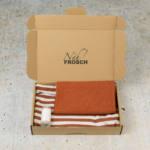 Nähpaket Babyshirt KERDIL Streifen steinrot
