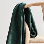 Bio Slub Strick Jacquard – dunkelgrün