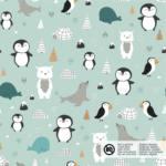 Baumwolljersey Pinguinparty – mint – VORBESTELLUNG